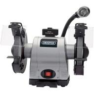 Draper 200mm 550w Heavy Duty Bench Grinder With Light