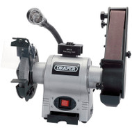 Draper 150mm 370w Bench Grinder With Sanding Belt & Work Light