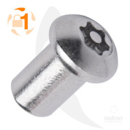 Button Head A2 Stainless Steel 6-Lobe Pin Barrel Nut (Box of 100)