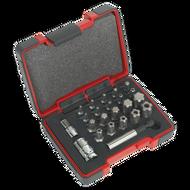 """Sealey TRX-P & Security TRX-TS* Bit Set 23pc 1/4"""" & 3/8""""Sq Drive"""