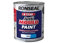 Ronseal 6 Year Anti Mould Paint White Matt 750ml