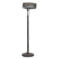 Sealey Infrared Quartz Patio Heater 2000W/230V with Telescopic Floor Stand