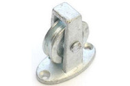 38mm Upright Cast Pulley - BZP Cast Wheel Along The Plate