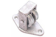 38mm Double Upright Cast Pulley - BZP Cast Wheel Along Plate
