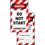 Lockout Tags DO NOT START (Double sided 10 pack)