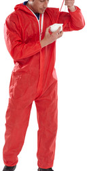 Click Disposable Red Overalls 5/6 - 2XL (Each)