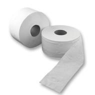 Mini Jumbo White 2 Ply Toilet Roll (Pack Of 12)