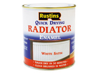 Rustins Quick Dry Radiator Enamel Paint Satin White 250ml