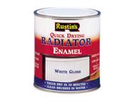 Rustins Quick Dry Radiator Enamel Paint Gloss White 250ml