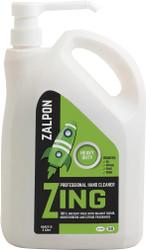 ZALPON 'Zing' Citrus Gel Hand Cleaner - Heavy Duty 4 Litre Pump