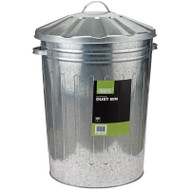 Draper Galvanised Dust Bin With Lid, 85 Litre