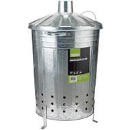 Draper Galvanised Incinerator Bin, 85 Litre