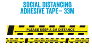 Social Distancing Adhesive Tape 48mm x 33 Metre