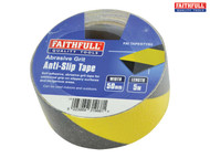 Faithfull Anti-Slip Tape Black/Yellow 50mm x 5m