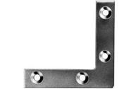Flat Corner Plates Zinc Plated (Per 10)