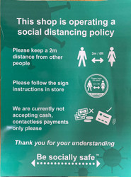 This Shop Is Operating A Social Distancing Policy Green - SAV (300 X 400mm)