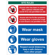 Workplace Site Safety Keep a Safe Distance - RPVC (300 x 400mm)