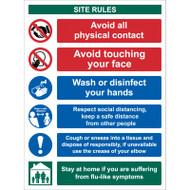 Site Safety Keep a Safe Distance - RPVC (300 x 400mm)