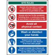Reception Site Safety - RPVC (300 x 400mm)