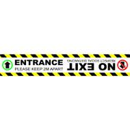 Floor Marker - Entrance No Exit - SAV LAM (600 x 100mm)