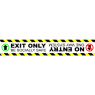 Floor Marker - Exit Only No Entrance - SAV LAM (600 x 100mm)