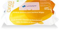 UNIWIPE 'Clinical' Disinfection Surface Midi-Wipes 200 Pack