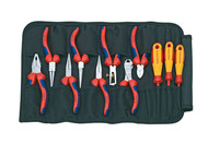 Knipex Pliers & Screwdriver Set in Toolbag, 11 Piece
