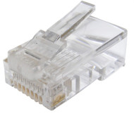 RJ45 Crimp-On Connector CAT 5E (Pack Of 10)