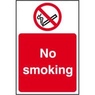 No Smoking - Rigid PVC (400 x 600mm)