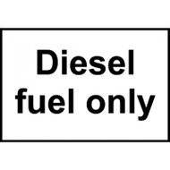 Diesel Fuel Only Sticker - Self Adhesive 150 x 100mm