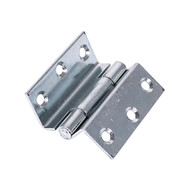 Pair of Stormproof Hinges - Steel - Zinc