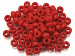 Seed Bead 3mm 8/O 50 Gram (Appx.2000), Coral Red Opaque