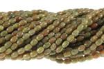 """4x6mm Epidot Rice Beads 15.5"""""""