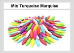 """28x8mm Mix Turquoise Magnesite Marquise Briolette Beads 15.5"""""""