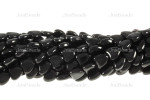 10mm Black Obsidian Puff Heart Beads 30pcs.