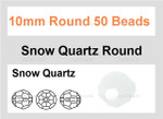 "10mm Snow Quartz Faceted Round 50 Beads (Approx.18"")"
