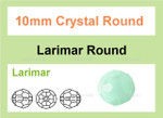 10mm Reconstructed Larimar Faceted Round Beads Approx.14""