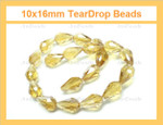 10x16mm Light Topaz Crystal AB Faceted Teardrop Beads Approx.13""