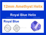 12mm Royal Blue Crystal Faceted Helix Beads Approx.13""