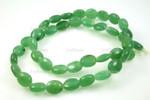 "8x10x5mm Green Aventurine Bean Beads 15.5"""