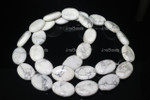10x14mm White Howlite Oval Beads 15.5""