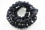 "10-12mm Black Agate Nugget 36"" Beads 15.5"""