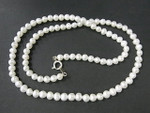 "4-5mm Freshwater Pearl Necklace 17"" With 925 Sterling Silver Clasp"