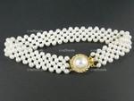 "4-5mm Freshwater Pearl Knitted Bracelet 7.5"""