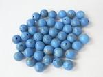 7mm Turquoise Howlite Half Hole Bead 10pcs.