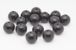 12mm Black Onyx 3 Hole Mala Beads 10pcs.
