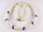 "4-5mm 3-Row Freshwater Pearl Necklace 20"" 14K 585 Gold Clasp & 36pcs.14K Beads"