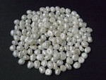 6-7mm Freshwater Pearl Button Pearl Half Drill 50pcs.