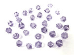 4x5mm Amethyst Crystal Faceted Bicone 30pcs.
