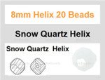 8mm Snow Quartz Helix 20 Beads